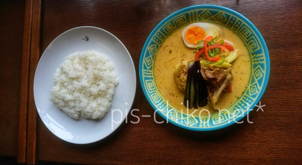 白カレー「鶏野菜」